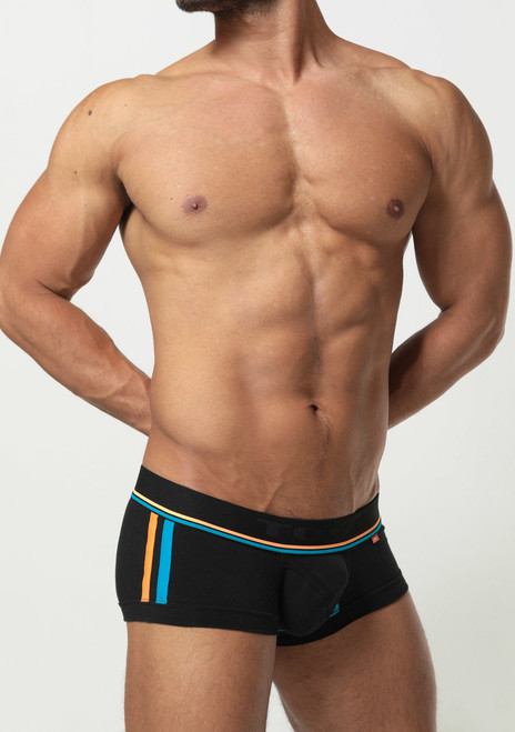TOOT Underwear Slash Line Nano Trunk Black (NB38H285-Black)