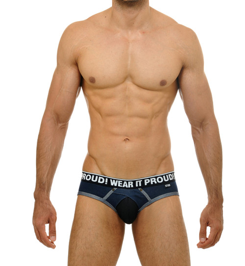 STUD Underwear Bronco Brief Denim Blue (U853LB10)