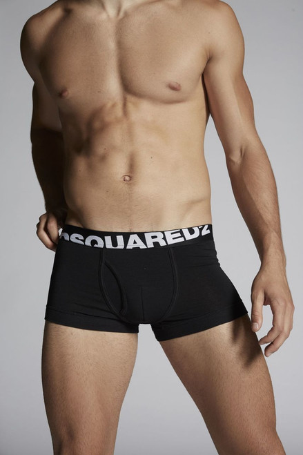 Dsquared Underwear Logo Trunk Black (2-Pack) (DCXC90030200)