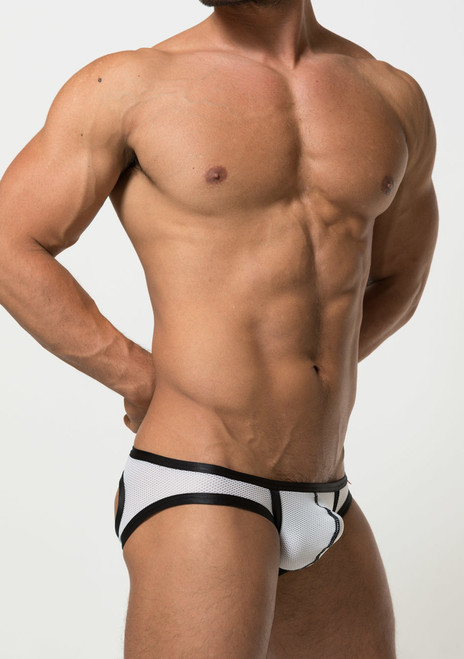 TOOT Underwear Restraint Jock Brief White (XB09H307-White)