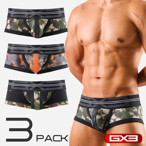 GX3 PROFESSION 3-Pack Army Boxer (K620)