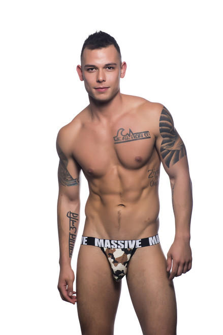 Andrew Christian Underwear Massive Camouflage Mesh Jock (90756-CMFPR)