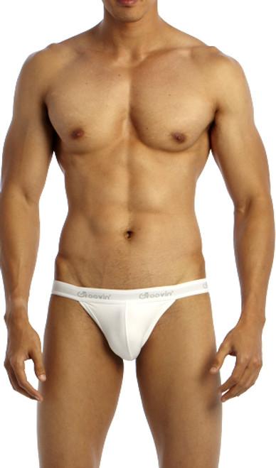Groovin' Underwear Tanga Bikini White Front View