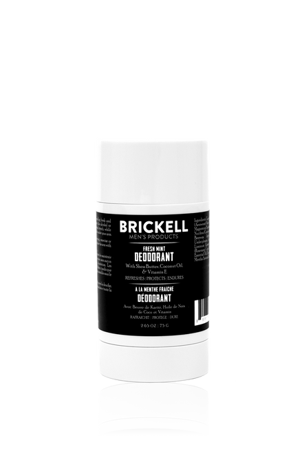 Brickell Men's Products Fresh Mint Deodorant for Men (2.65oz)