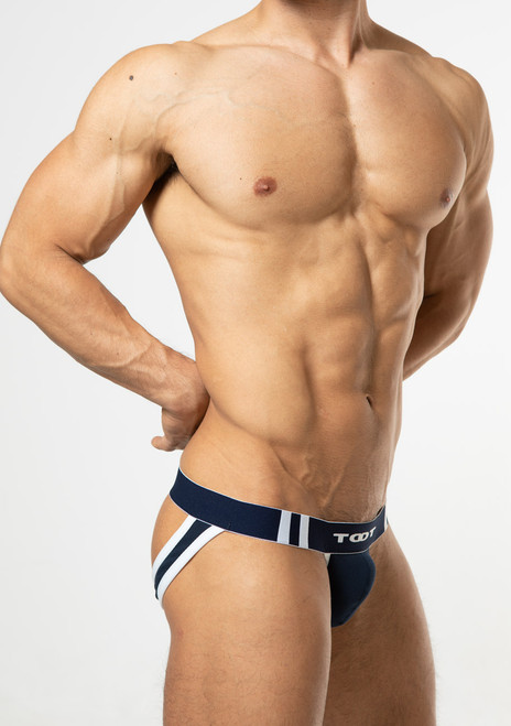 TOOT Underwear High-Fit Moss Stitch Y-Back Jock Navy (YB19I295-Navy)