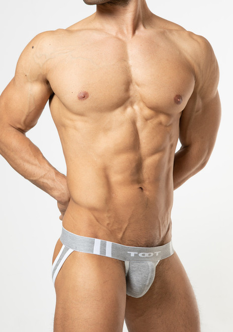 TOOT Underwear High-Fit Moss Stitch Y-Back Jock Gray (YB19I295-Gray)