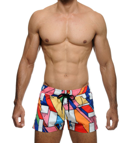 STUD Beachwear Haring Shorts Multi Color (RW972BS23)