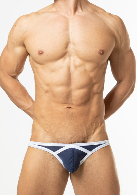 TOOT Underwear Diamond Shaped Cup Bikini Brief Navy (CV47I367-Navy)