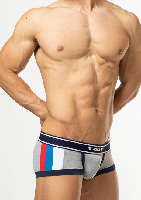 TOOT Underwear Tricolor Nano Trunk Gray (NB62I296-Gray)