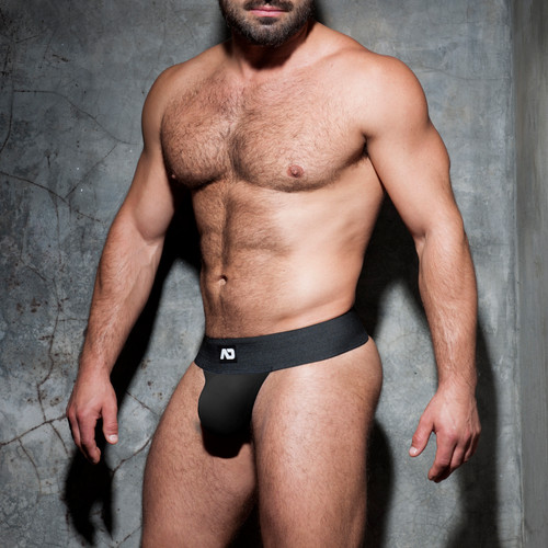 Addicted Underwear Fetish Kango Strapless Jock Black (ADF105-10)
