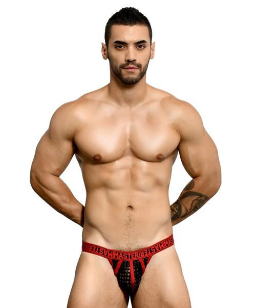 Andrew Christian Underwear Master Net Jock (90993-BLKRD)