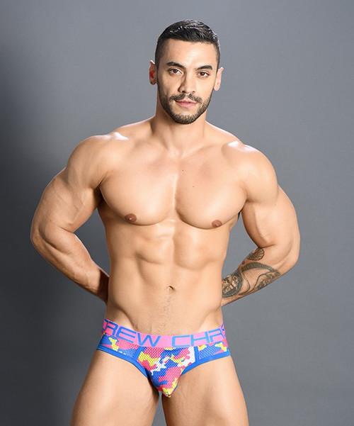 Andrew Christian Underwear Vivid Camo Mesh Brief (91133-NECMF)