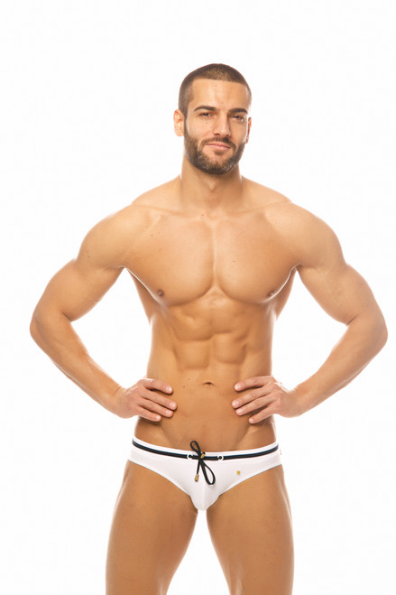 Marcuse Swimwear Volie Swimbrief White (Marcuse-Volie-Swimwear-Neon-White)