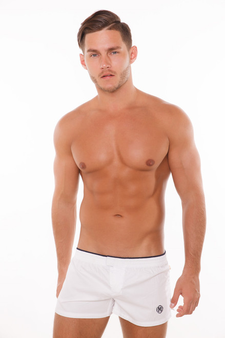Marcuse Underwear Twitch Boxer Shorts White (Marcuse-Twitch-Boxer-Shorts-White)