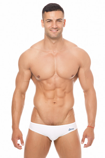 Marcuse Swimwear Risqué Swimbrief White (Marcuse-Risqué -Swimwear-White)