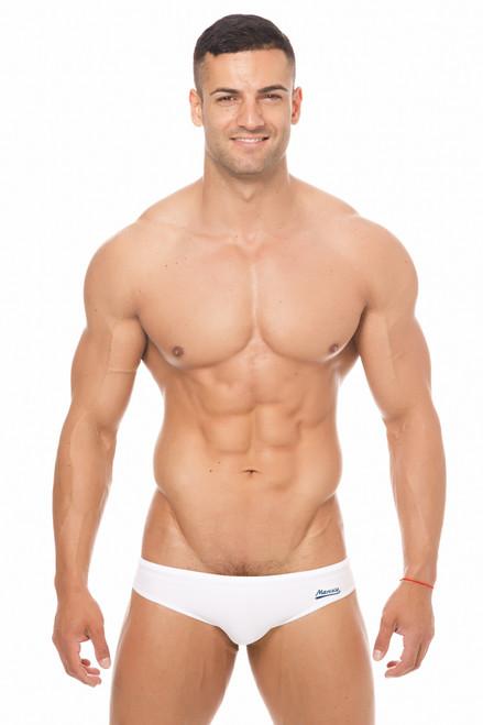 Marcuse Swimwear Risqué Swimbrief White (Marcuse-Risqué -Swimwear-White)