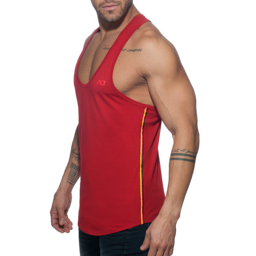 Addicted AD Flags Tape Tanktop Red (AD777-06)