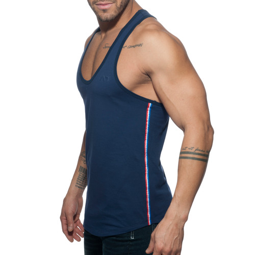 Addicted AD Flags Tape Tanktop Navy (AD777-09)