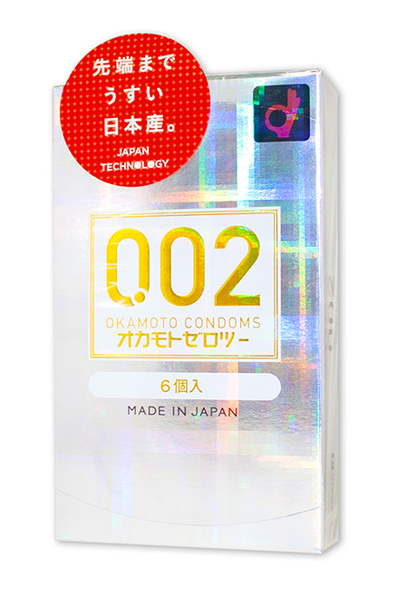 Okamoto Zero Two 0.02  6-Pack Condoms (Made in Japan)
