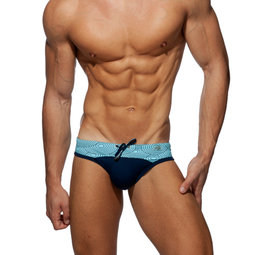 Addicted Swimwear Circles Swim Brief Navy ADS233 (ADS233-09)