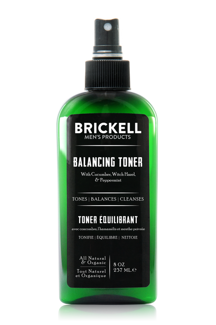 Brickell Men's Products Balancing Toner for Men (8 oz)