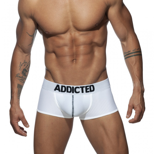 Addicted Underwear Push Up Mesh Trunk White (AD806-01)