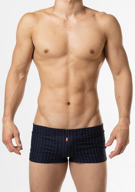 TOOT Underwear Linen Stripe Fit Boxer Navy (HT02J201-Navy)