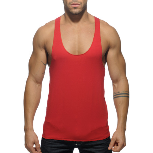 Addicted Back Printed Tanktop Red (AD340-06)