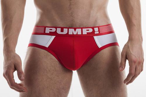 PUMP! Underwear Red Ribbed Brief