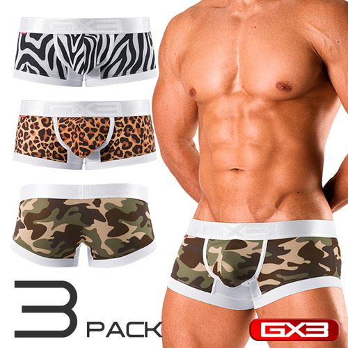 GX3 Safari Print 3-Pack Trunk (K1020)