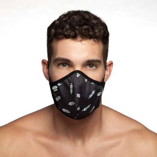 ES Collection Logo Face Mask Black (Filtration efficiency BFE > 80%) (AC110)