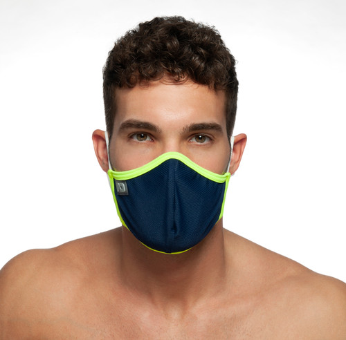 Addicted AC106 Spider Face Mask Navy (Filtration Efficiency BFE > 80%) (AC106-09)