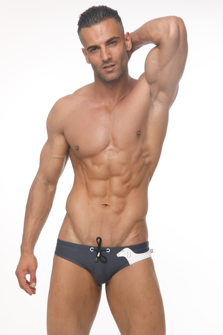Marcuse Swimwear Puppy Swimbrief Charcoal (Marcuse-Puppy-Swimwear-Charcoal)