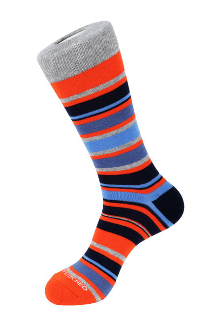 Unsimply Stitched Men's Socks Highway Stripe