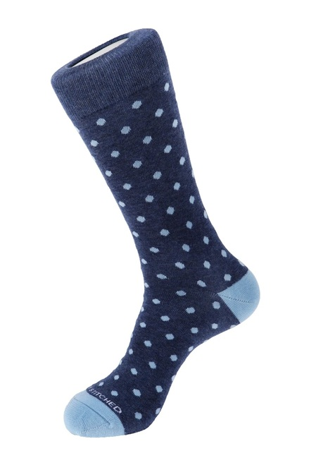 Unsimply Stitched Men's Socks Polka Dot Blue