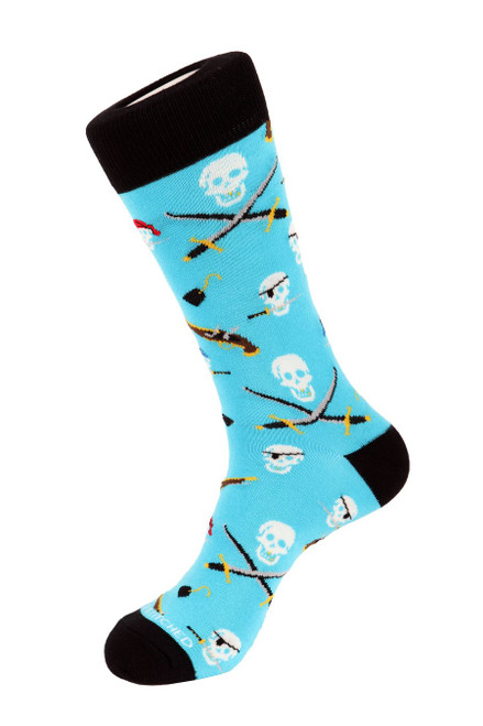 Unsimply Stitched Men's Socks Pirate Booty Teal