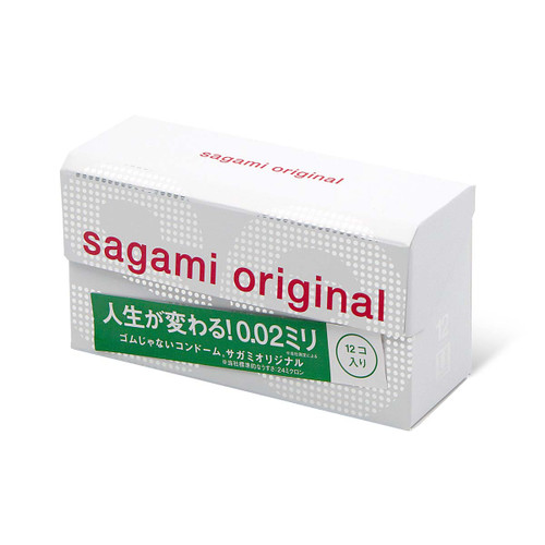 Sagami Japan Original 0.02 12-Pack PU Condoms
