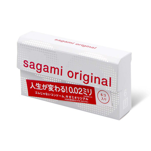 Sagami Japan Original 0.02 6-Pack PU Condoms