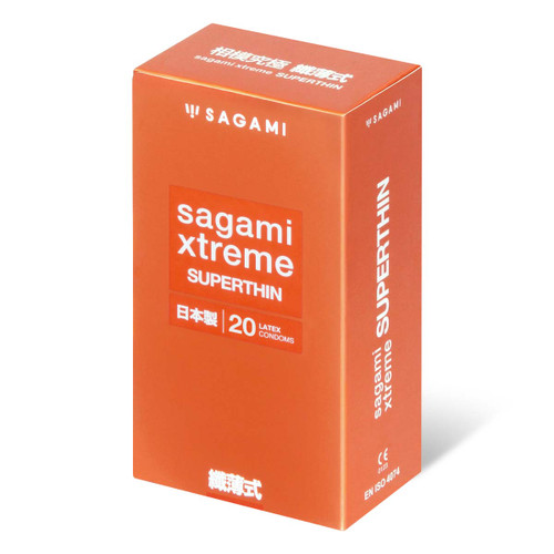 Sagami Japan Xtreme Superthin 20-Pack Latex Condoms