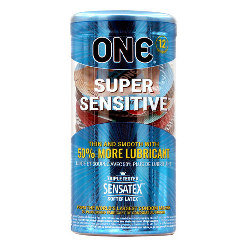 ONE Super Sensitive 12-Pack Latex Condoms (ONE-Condom-2456)
