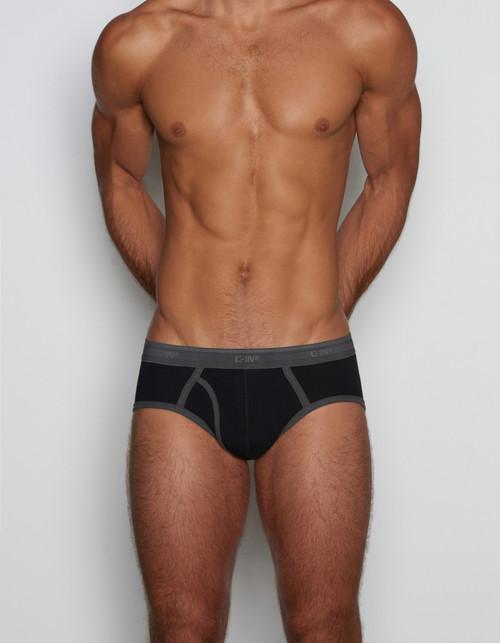 C-IN2 Underwear - Slate Fly Front Brief Bob Black (6360-001B)