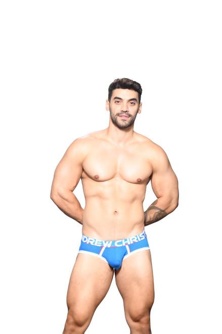 Andrew Christian Underwear CoolFlex Active Modal Brief Blue (91940-BLU)