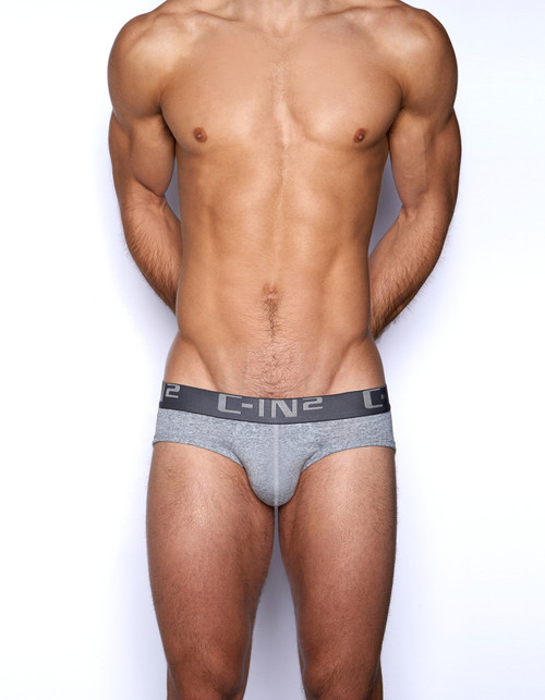 C-IN2 Underwear Core Lo No Show Profile Brief Grey Heather