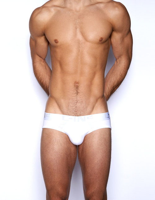 C-IN2 Underwear Core Lo No Show Profile Brief White