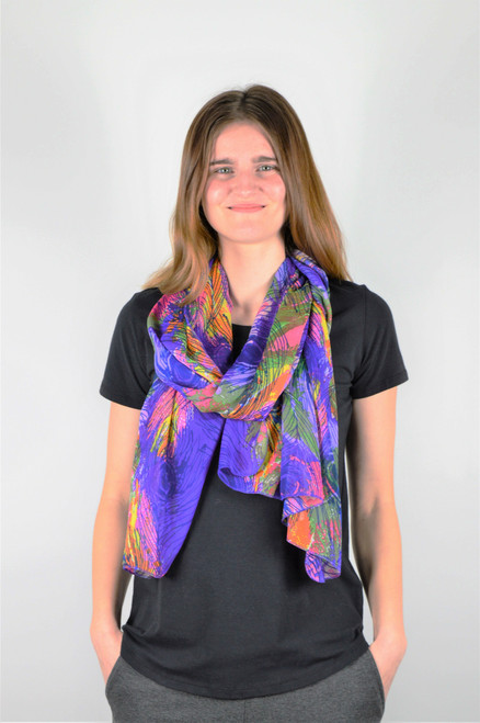 Handmade Scarf - Purple