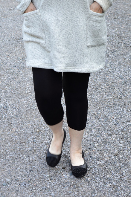 Capri Bamboo Legging - Black
