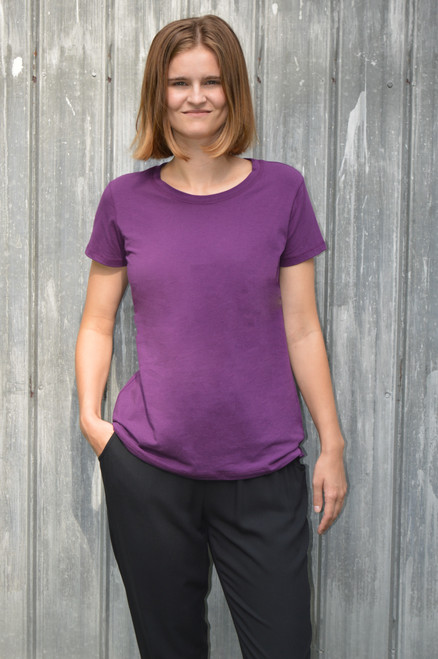 Short Sleeve Top - Glorious Grape