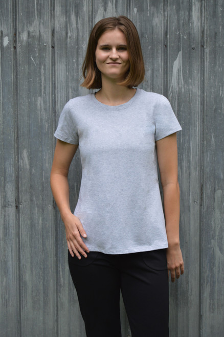 Short Sleeve Top - Light Grey