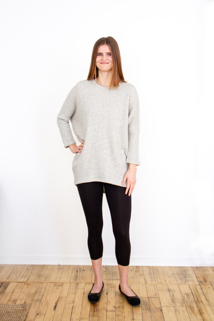 Christie Crew Sweater - Light Heather Grey