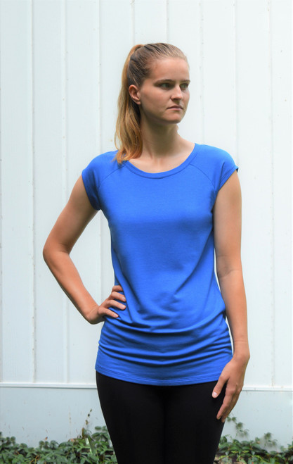 Cap Sleeve Tunic - Royal Blue